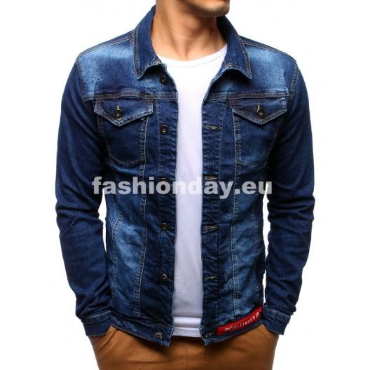 Džínsové bundy pánske tmavo modrej farby