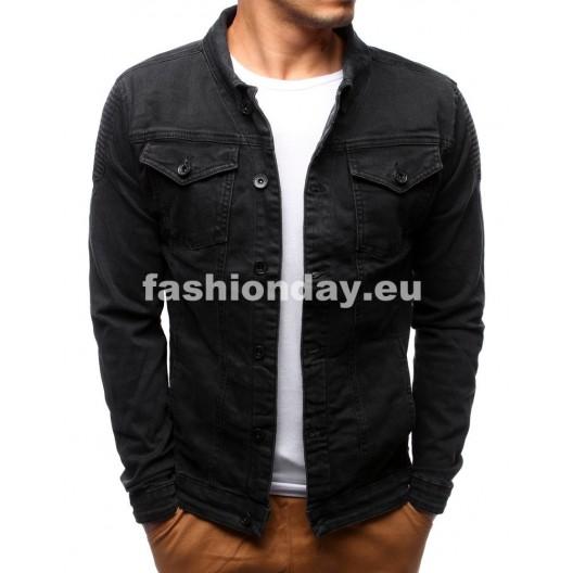 Jeansové bundy pre pánov čierne