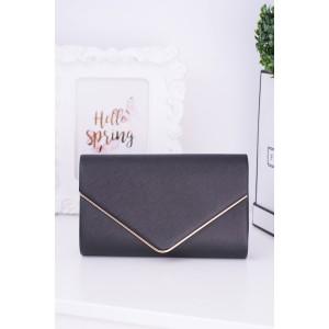 Luxusné kabelky čiernej farby so zlatým lemovaním