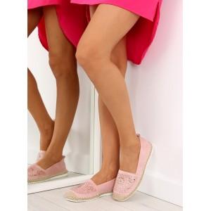 Letné topánky pre dámy v ružovej farbe