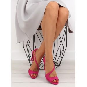 Ružové lodičky pre dámy na vysokom podpätku