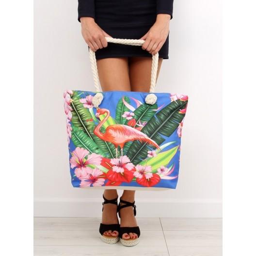 Veľká plážová taška s farebným motívom