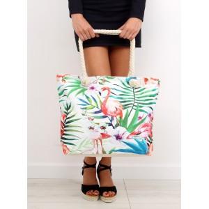 Lacné plážové tašky s plameniakom