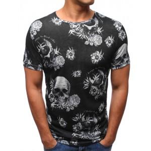 Pánske tričká v čiernej farbe s potlačou