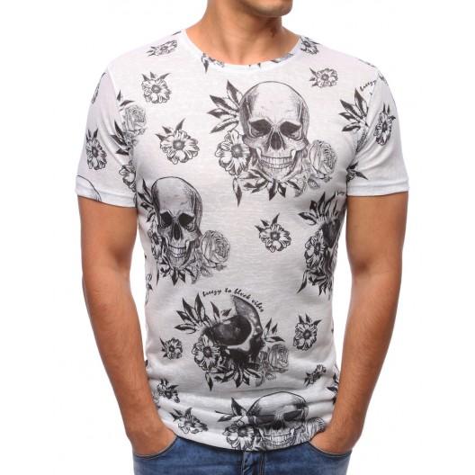 Štýlové tričko pánske bielej farby
