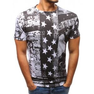 Pánske moderné trička bielej farby