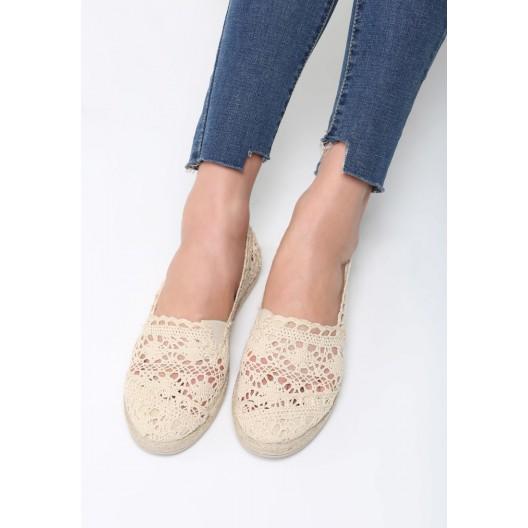 Letné dámske topánky béžové