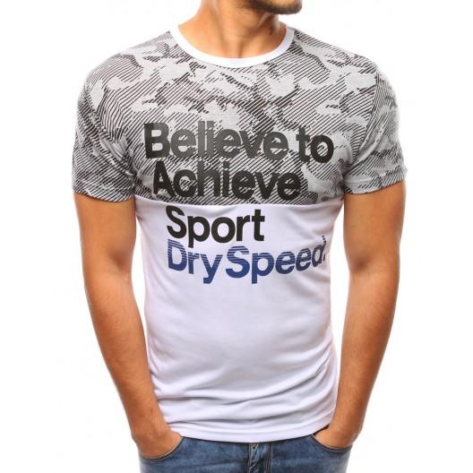 Pánske moderné trička bielej farby s nápisom