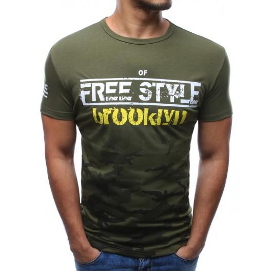 Pánske tričká s krátkym rukávom zelenej farby