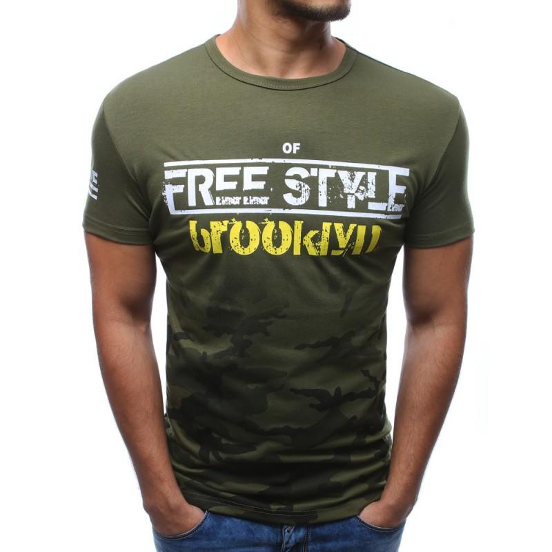 dc4e5dd91b0b Pánske tričká s krátkym rukávom zelenej farby