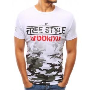 Pánske moderné trička bielej farby s potlačou