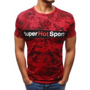 Športové trička pánske červenej farby