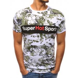 Štylové tričko pánske bielej farby