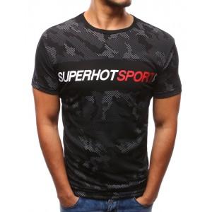 Lacné tričká s krátkym rukávom čiernej farby