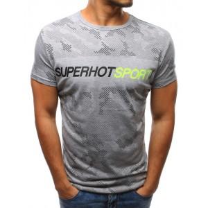 Športové tričká pánske sivej farby