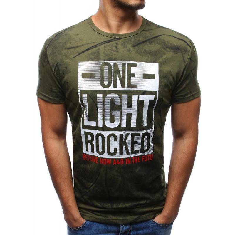7f16857f8fd8 Moderné pánske trička zelenej farby