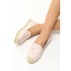 Letná obuv pre dámy v ružovej farbe