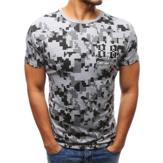Športové trička pánske sivej farby