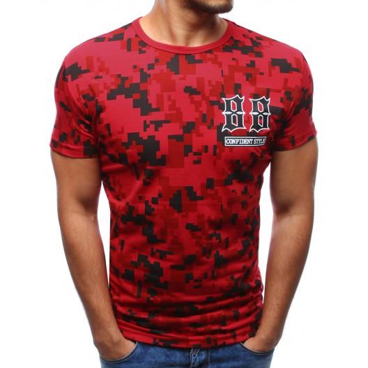 Moderné pánske trička červenej farby