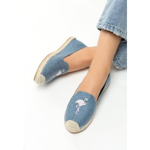 Topánky na pláž modrej farby