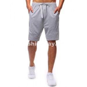 Krátke nohavice pánske svetlo sivé