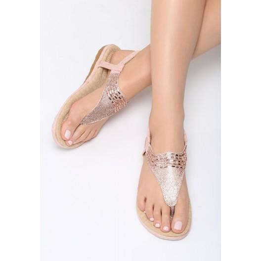 Dámske sandále na leto ružovej farby