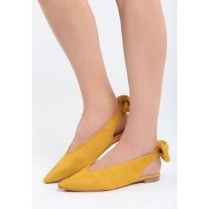 Dievčenské balerínky žltej farby