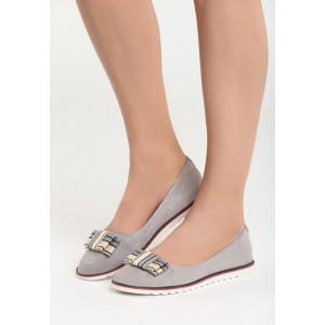 Letné topánky pre dámy v sivej farbe