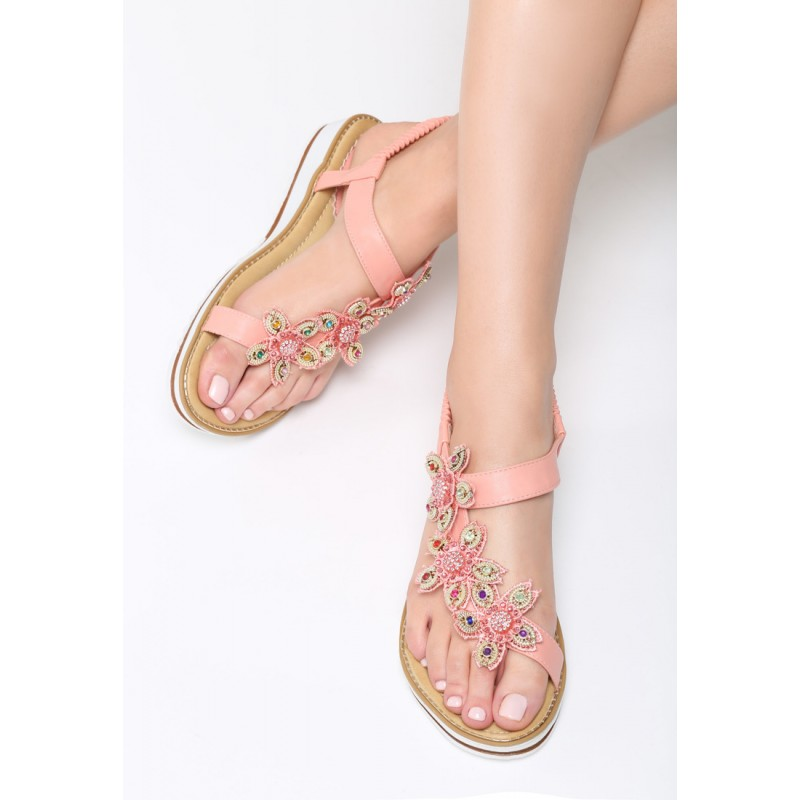 7e56757bc8 Luxusné dámske sandále s kvetmi