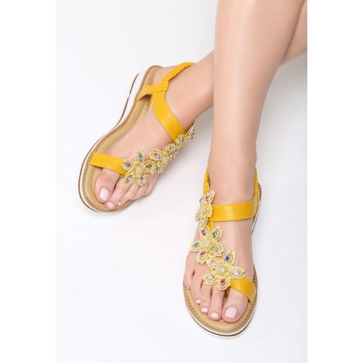 Pekné letné sandále žltej farby