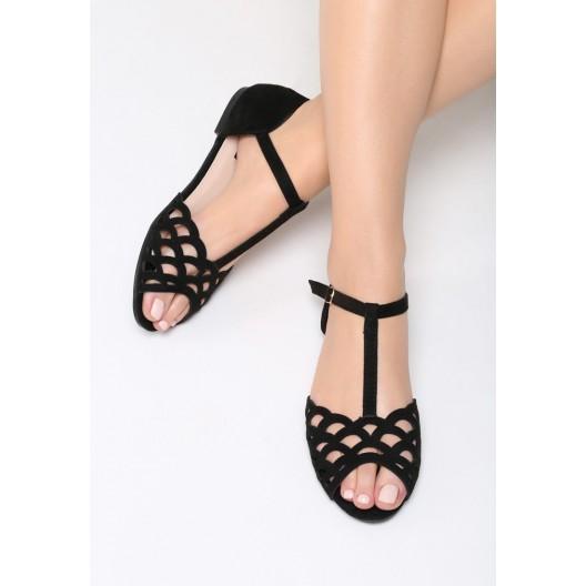 Spoločenské sandále na nízkom podpätku