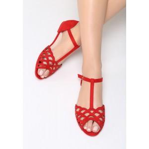 Letné dámske sandále červené