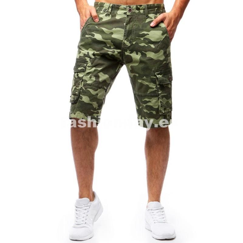 bd5dfbdb402a Pánske krátke nohavice zelené