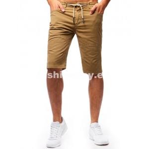 Krátke nohavice v béžovej farbe pre mužov