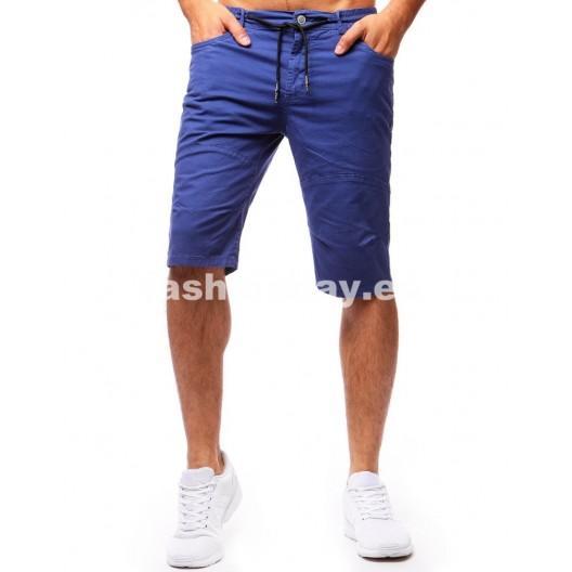 Šortky v kárľovskej modrej pre pánov