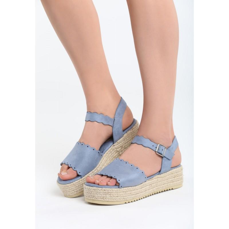 5438ddbb81a5 Sandále na platforme modrej farby