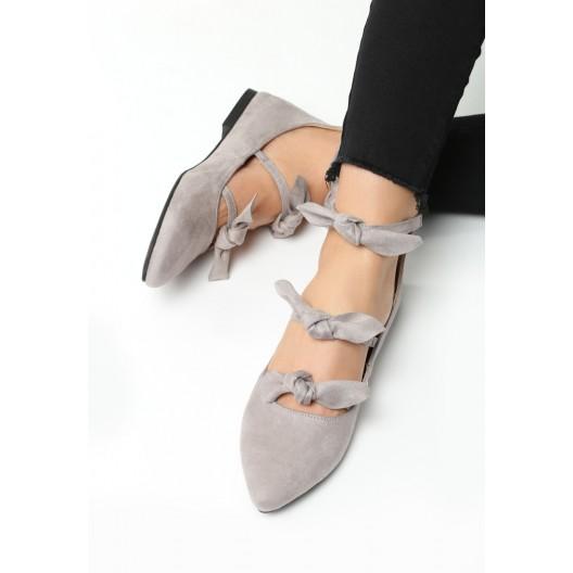 Dámske baleríny sivej farby