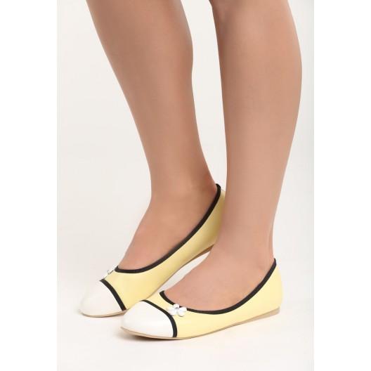 Žlté balerínky pre dámy