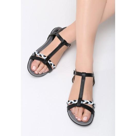 Sandále čiernej farby s prackou
