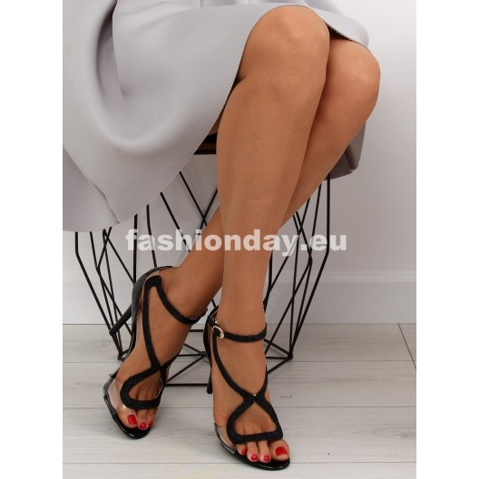 Čierne sandále elegantné