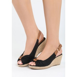 Čierne sandále dámske na leto