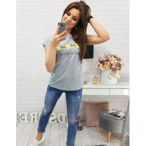 Štýlová tričká sivej farby pre dámy
