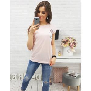 Tričko s potlačou dámske v ružovej farbe