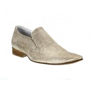 Pánske kožené extravagantné topánky zlaté ID:587
