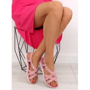 Ružové sandále na leto