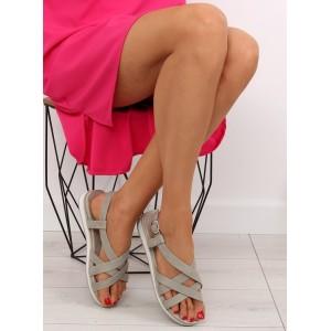 Elegantné sandále sivej farby