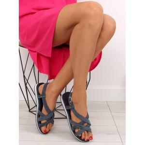 Sandálky na leto tmavo modrej farby