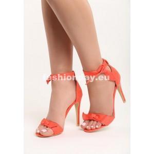 Sandále v oranžovej farbe