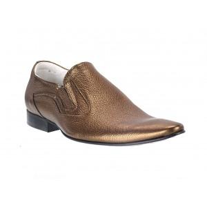 Pánske kožené extravagantné topánky zlaté ID:591