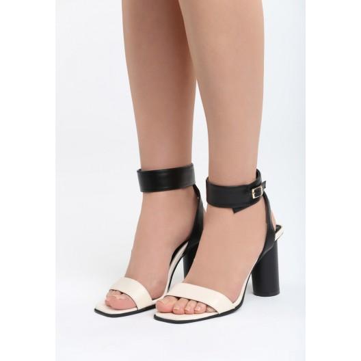 Dámske sandále na leto béžovej farby
